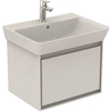 Ideal Standard CONCEPT AIR Cube Wall Hung Vanity Unit Only, 1 Drawer, 600mm Wide, Gloss White / Matt White