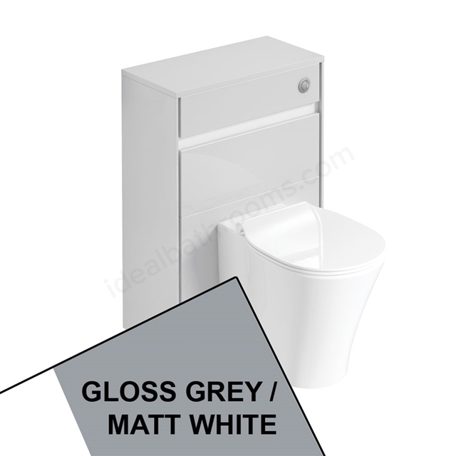 Ideal Standard CONCEPT AIR Toilet Unit Only; 600mm Wide; Gloss Grey / Matt White