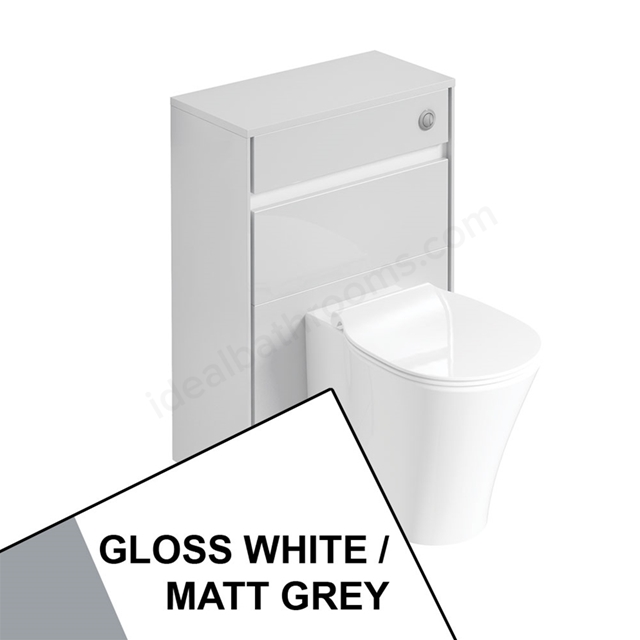 Ideal Standard CONCEPT AIR Toilet Unit Only; 600mm Wide; Gloss White / Matt Grey