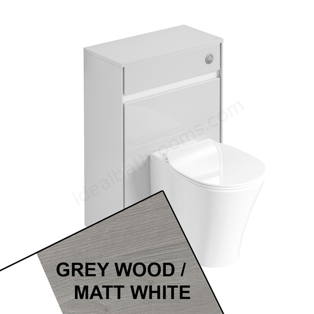 Ideal Standard CONCEPT AIR Toilet Unit Only; 600mm Wide; Light Grey Wood / Matt White