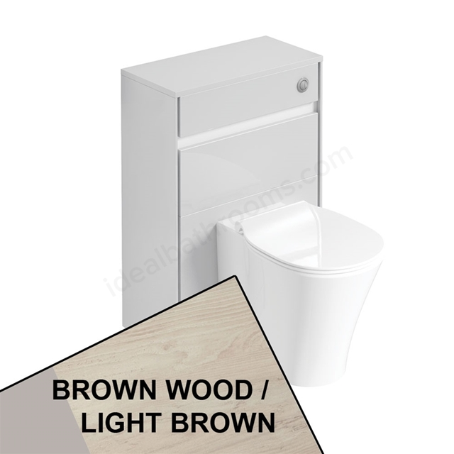 Ideal Standard CONCEPT AIR Toilet Unit Only; 600mm Wide; Light Brown Wood / Matt White