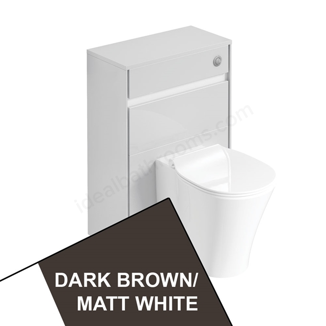 Ideal Standard CONCEPT AIR Toilet Unit Only; 600mm Wide; Matt Dark Brown / Matt White