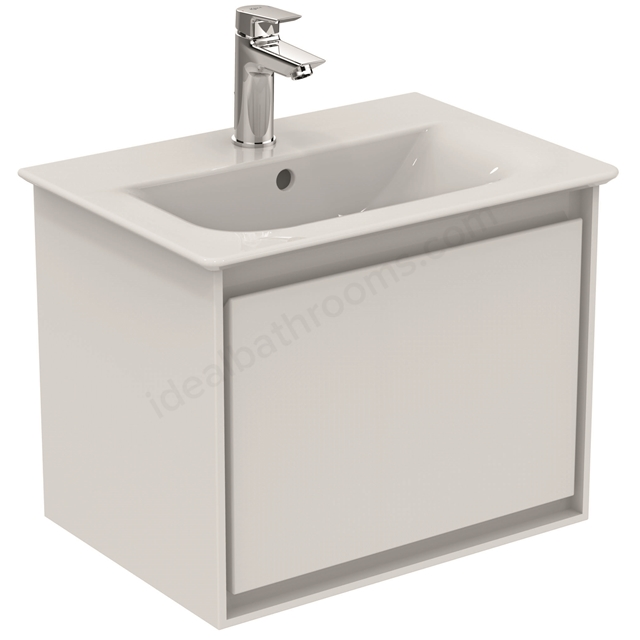 Ideal Standard CONCEPT AIR Wall Hung Vanity Unit Only; 1 Drawer; 500mm Wide; Gloss White / Matt White