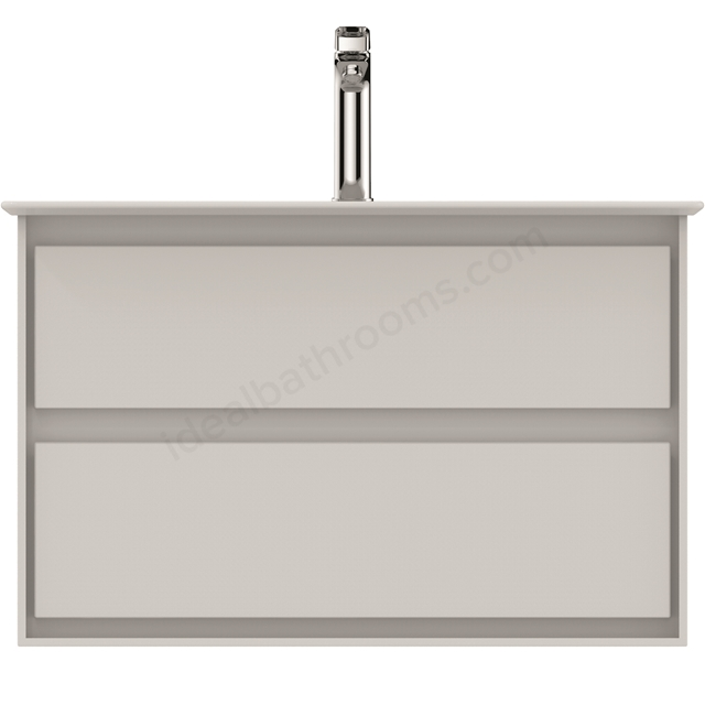 Ideal Standard CONCEPT AIR Wall Hung Vanity Unit Only; 2 Drawers; 800mm Wide; Gloss White / Matt White