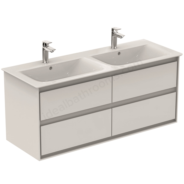 Ideal Standard CONCEPT AIR Wall Hung Vanity Unit Only; 4 Drawers; 1000mm Wide; Gloss White / Matt White
