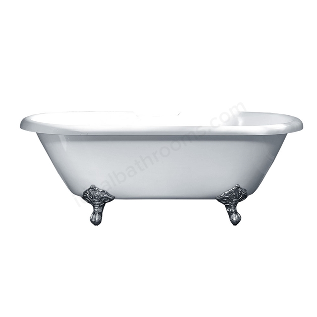 Essential TRADITIONAL ROLL TOP Freestanding Double Ended Bath, 1700X800mm