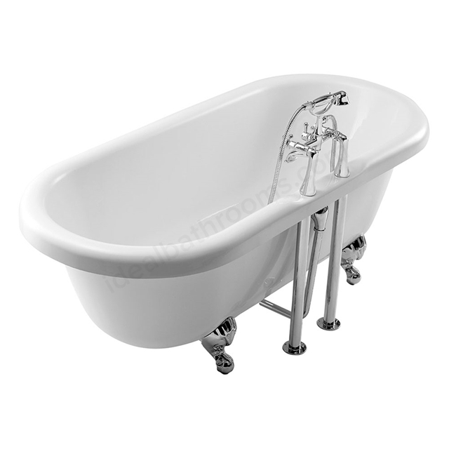 Essential LAMBETH Freestanding Oval Double Ended Bath, 1700x750mm