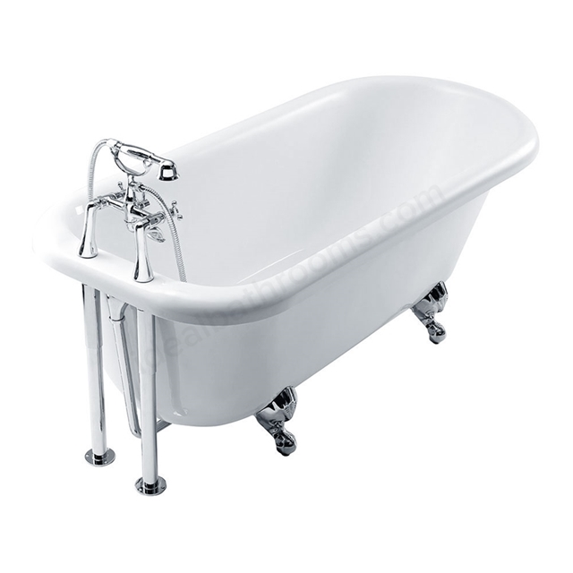 Essential LAMBETH Freestanding Curved Single Ended Bath, 1700x760mm