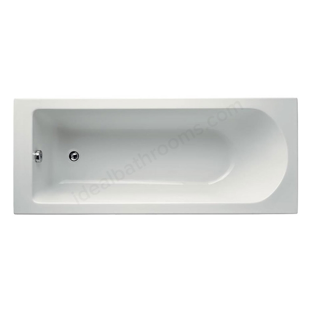 Ideal Standard TESI Rectangular Bath; Idealform Plus; 0 Tap Holes; 1600x700mm; White