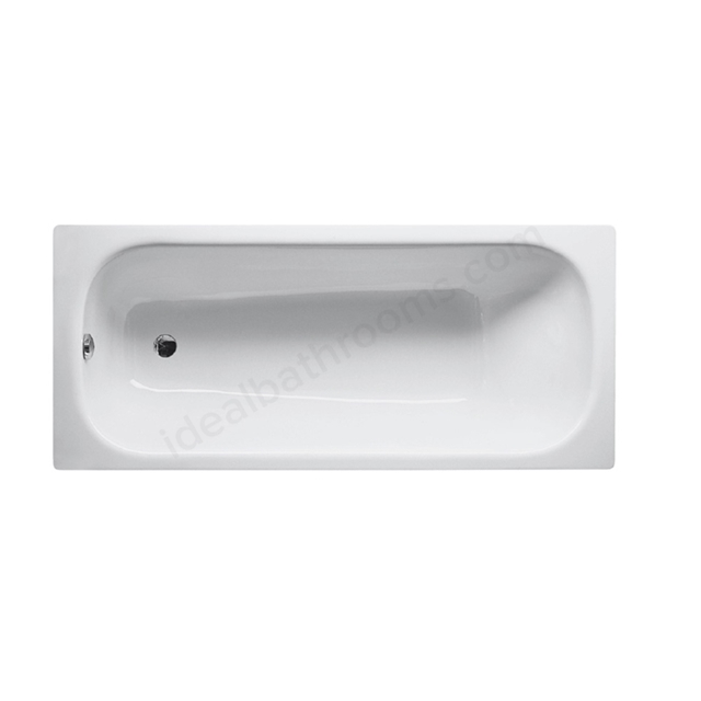 Bette CLASSIC Steel Bath, Single Ended, 1700x750mm, 2 Tap Hole, with Grip Holes, White