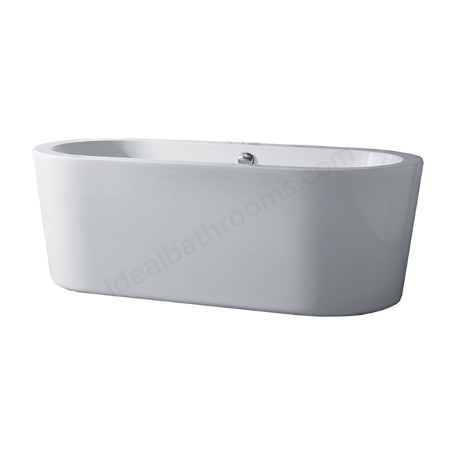 Essential PEBBLE Freestanding Oval Double Ended Bath, 1700x800mm