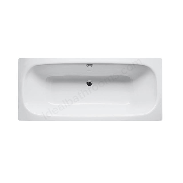 Bette DUETT Steel Bath, Double Ended, 1700x750mm, 0 Tap Hole, White