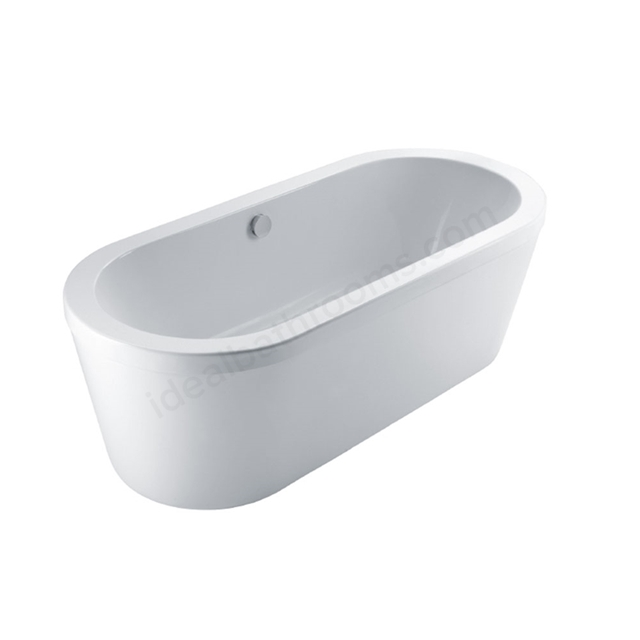 Essential CHELSEA Freestanding Oval Double Ended Bath, 1700x760mm