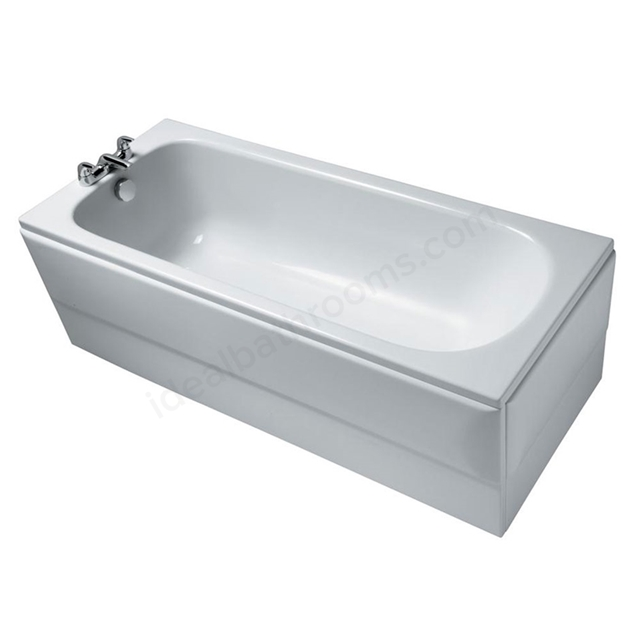 Ideal Standard ALTO Contract Single Ended Rectangular Bath; 2 Tap Holes; 1700x700mm; White
