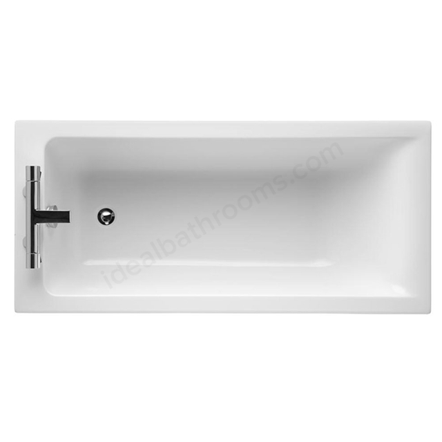 Ideal Standard CONCEPT Single Ended Rectangular Bath; 2 Tap Holes; 1500x700mm; White