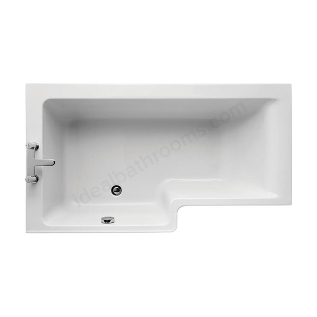 Ideal Standard CONCEPT Left Handed Square Shower Bath; Idealform Plus+; 0 Tap Holes; 1500mm; White