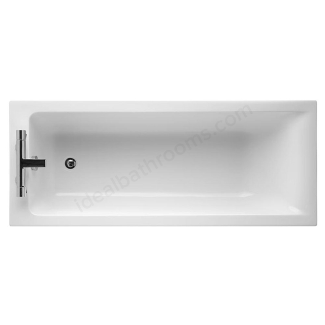 Ideal Standard CONCEPT Single Ended Rectangular Bath; 2 Tap Holes; 1700x700mm; White
