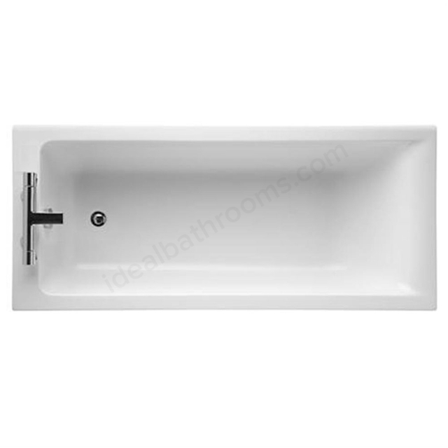 Ideal Standard CONCEPT Single Ended Rectangular Bath; 2 Tap Holes; 1700x750mm; White