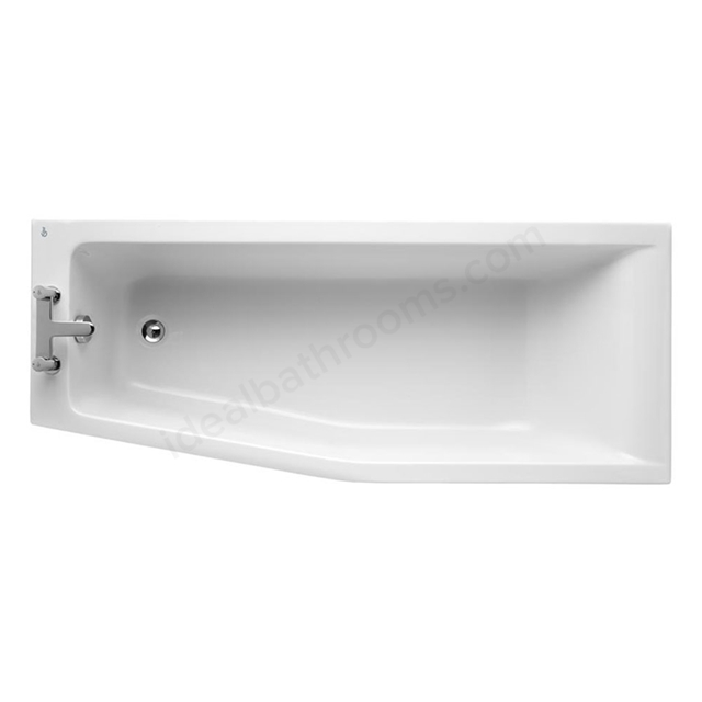 Ideal Standard CONCEPT Left Handed Spacemaker Bath; 0 Tap Holes; 1700mm; White