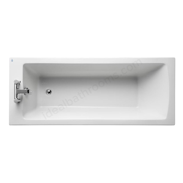 Ideal Standard TEMPO Arc Single Ended Rectangular Bath; 2 Tap Hole; 1700x700mm; White