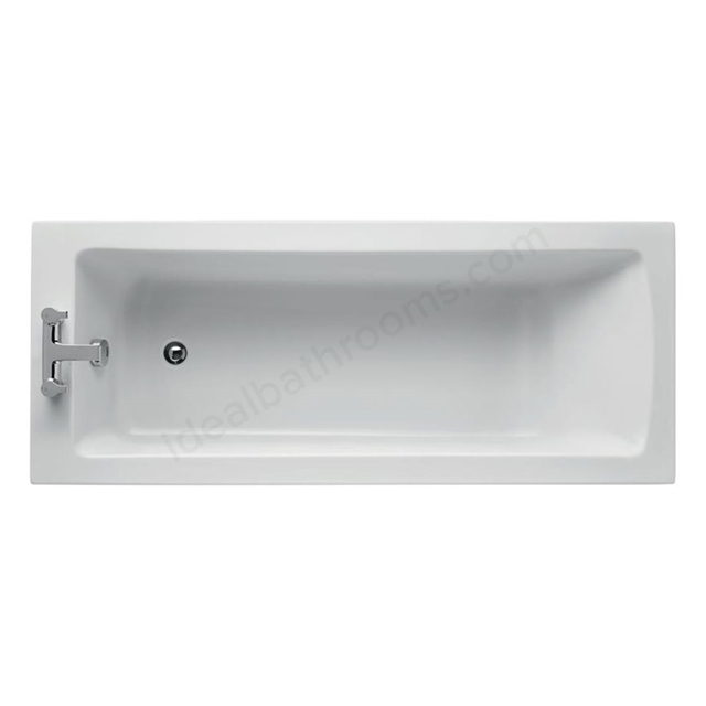 Ideal Standard TEMPO Arc Single Ended Rectangular Bath; Idealform Plus+; 2 Tap Hole; 1700x700mm; White