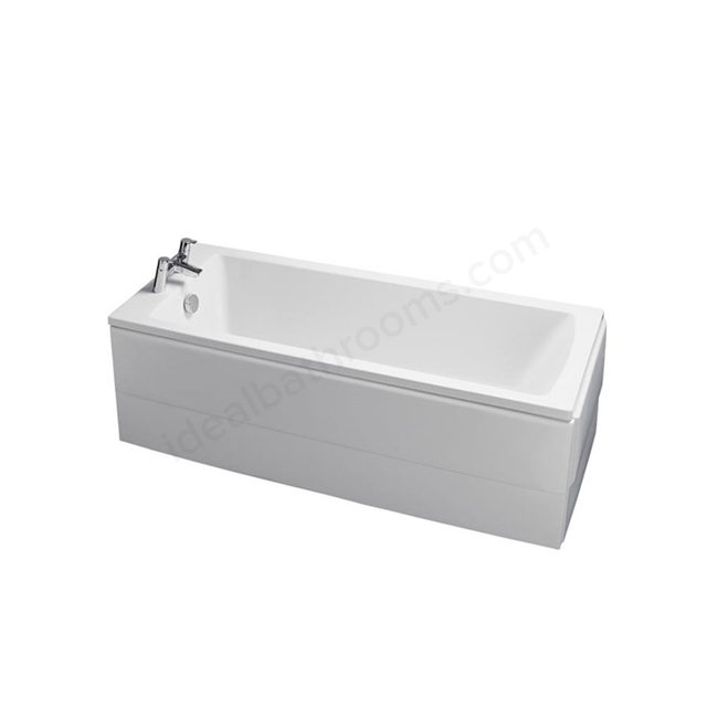 Ideal Standard TEMPO Arc Single Ended Rectangular Bath; 0 Tap Hole; 1700x700mm; White