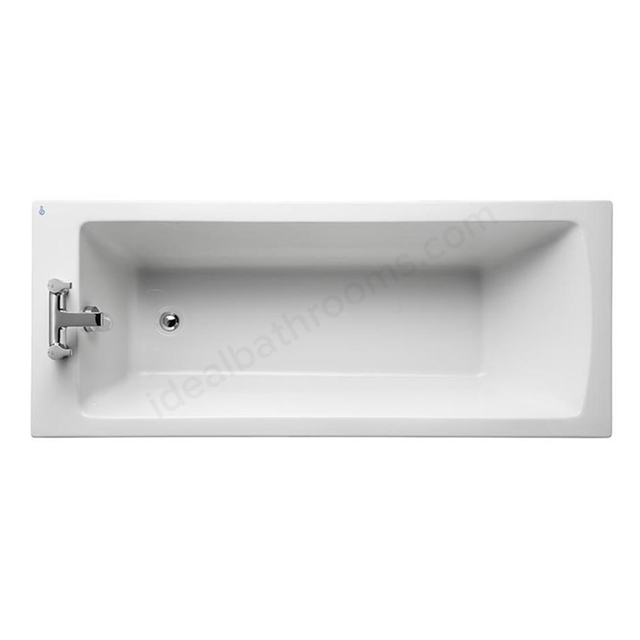 Ideal Standard TEMPO Arc Single Ended Rectangular Bath; Water Saving; 0 Tap Hole; 1700x700mm; White