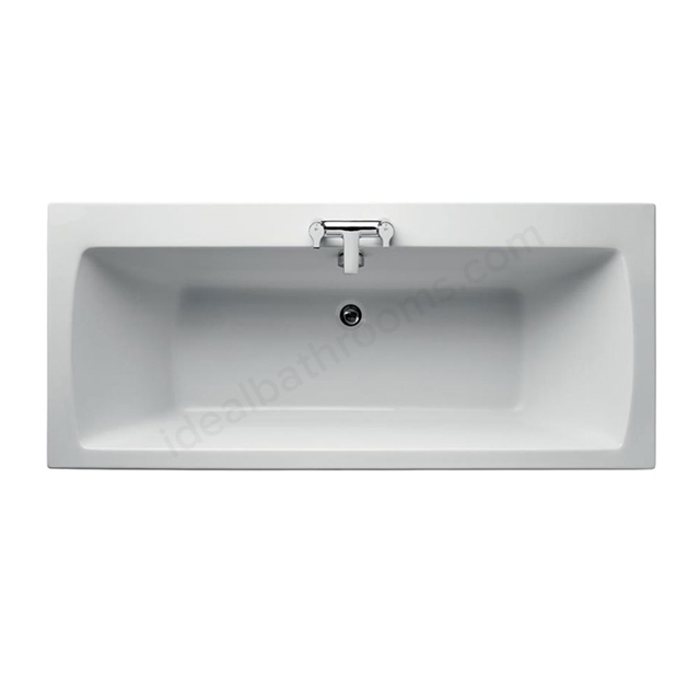 Ideal Standard TEMPO Arc Double Ended Rectangular Bath; Idealform Plus+; 0 Tap Hole; 1700x750mm; White