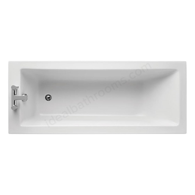 Ideal Standard TEMPO Cube Single Ended Rectangular Bath; Idealform Plus+; 0 Tap Holes; 1700x700mm; White