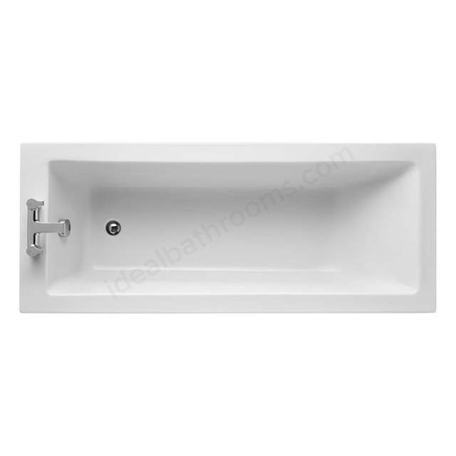 Ideal Standard TEMPO Cube Single Ended Rectangular Bath; Water Saving; 0 Tap Holes; 1700x700mm; White