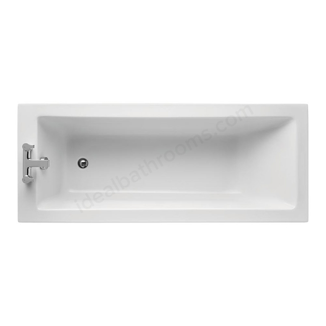 Ideal Standard TEMPO Cube Single Ended Rectangular Bath; Idealform Plus+; 0 Tap Holes; 1700x750mm; White