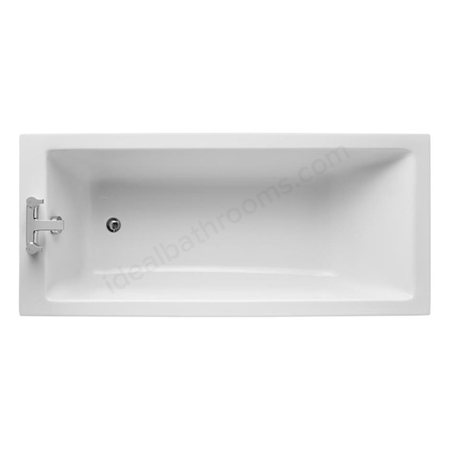 Ideal Standard TEMPO Cube Single Ended Rectangular Bath; 0 Tap Holes; 1700x750mm; White