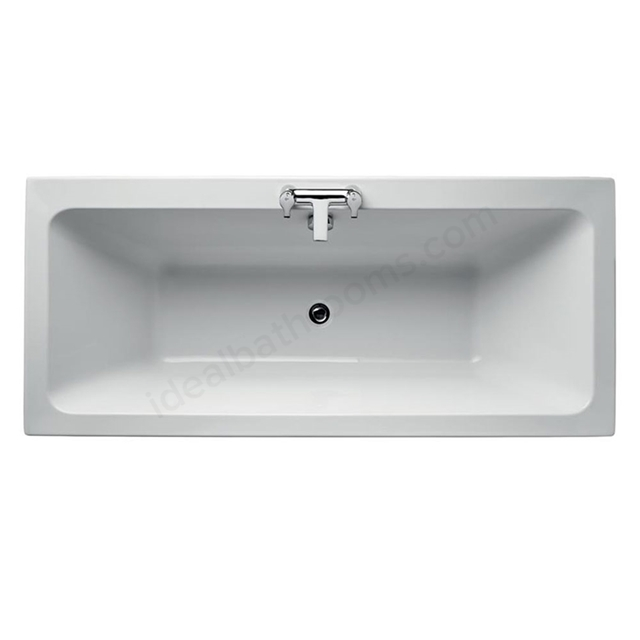 Ideal Standard TEMPO Cube Double Ended Rectangular Bath; Idealform Plus+; 0 Tap Holes; 1700x750mm; White