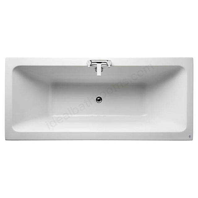 Ideal Standard TEMPO Cube Double Ended Rectangular Bath; 0 Tap Holes; 1700x750mm; White