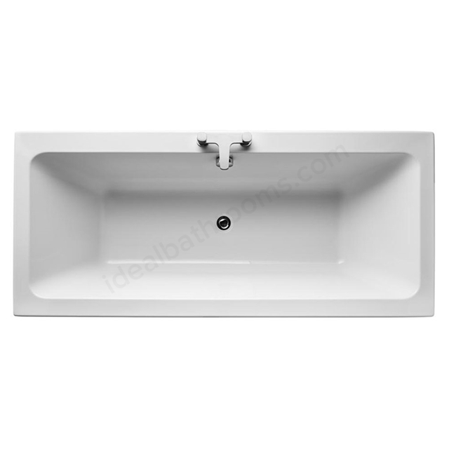 Ideal Standard TEMPO Cube Double Ended Rectangular Bath; 0 Tap Holes; 1800x800mm; White