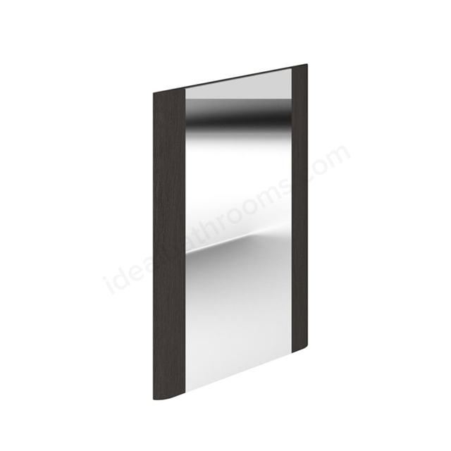 Essential VERMONT Bathroom Mirror; Rectangular; 450x600mm; Dark Grey
