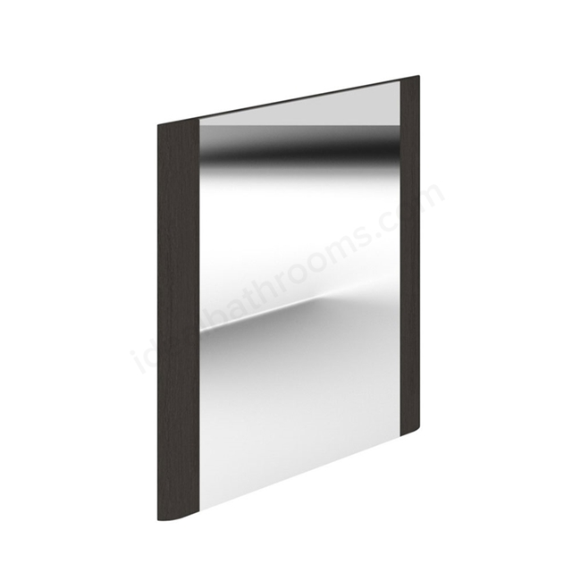 Essential VERMONT Bathroom Mirror; Rectangular; 600x600mm; Dark Grey