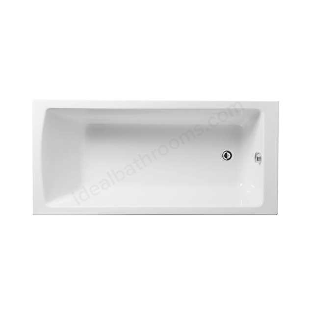 Vitra NEON Single Ended Rectangular Bath, 1500x700mm, 0 Tap Hole, White