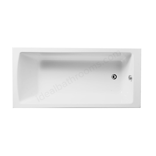 Vitra NEON Single Ended Rectangular Bath, 1600x750mm, 0 Tap Hole, White