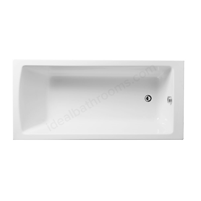 Vitra NEON Single Ended Rectangular Bath, 1700x700mm, 0 Tap Hole, White
