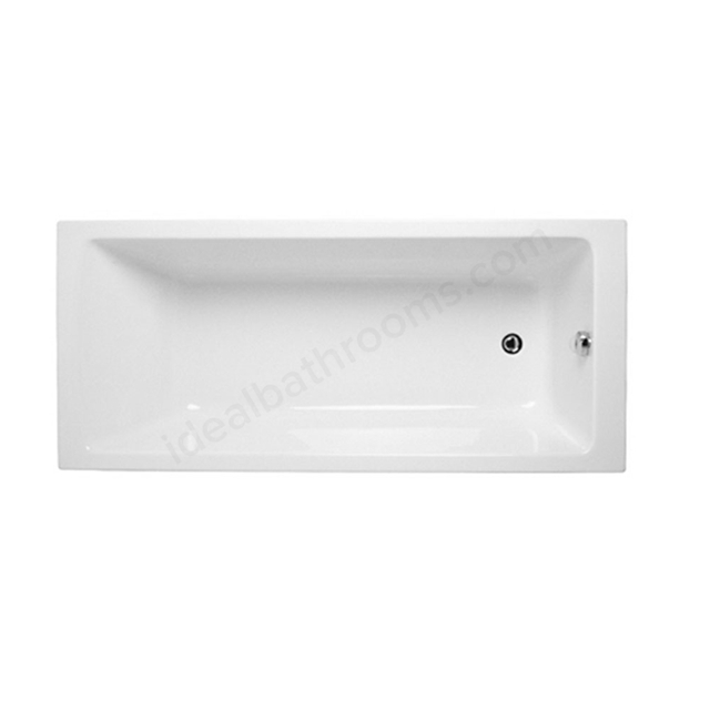 Vitra NEON Single Ended Rectangular Bath; 1700x750mm; 0 Tap Hole; White