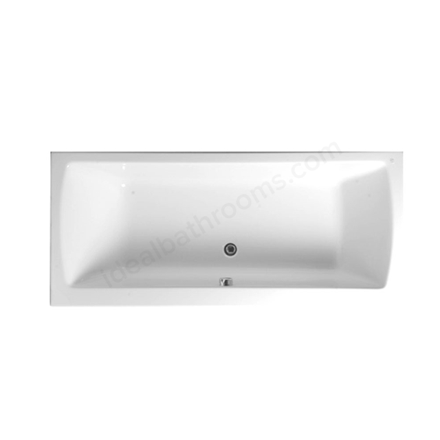 Vitra NEON Double Ended Rectangular Bath, 1800x800mm, 0 Tap Hole, White