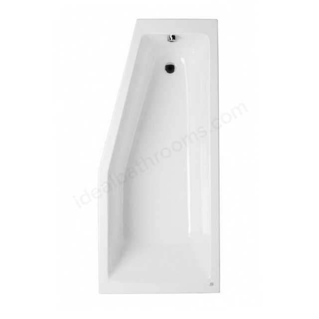 Vitra NEON Single Ended Spacesaver Bath, 1700x750mm, Left Handed, 0 Tap Hole, White