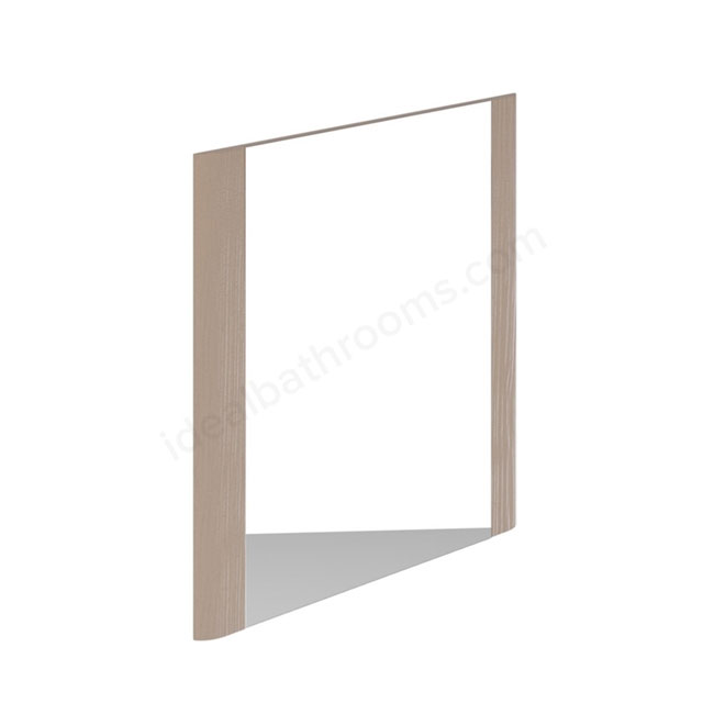 Essential VERMONT Bathroom Mirror; Rectangular; 600x600mm; Light Grey