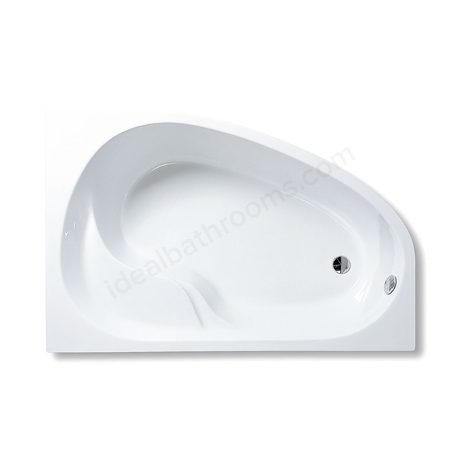 Vitra OPTIMA Single Ended Corner Bath, 1500x1000mm, Left Handed, 0 Tap Hole, White