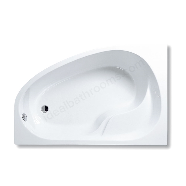 Vitra OPTIMA Single Ended Corner Bath, 1500x1000mm, Right Handed, 0 Tap Hole, White