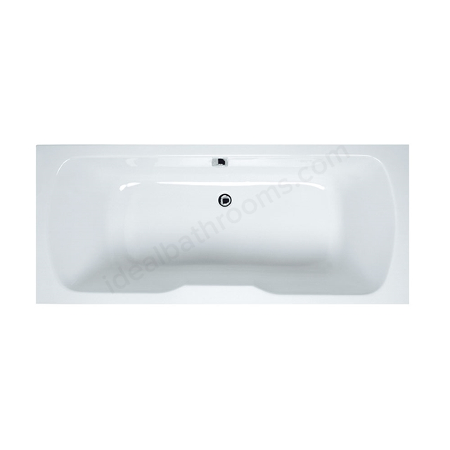 Vitra OPTIMA Double Ended Rectangular Bath; 1700x750mm; 0 Tap Hole; White