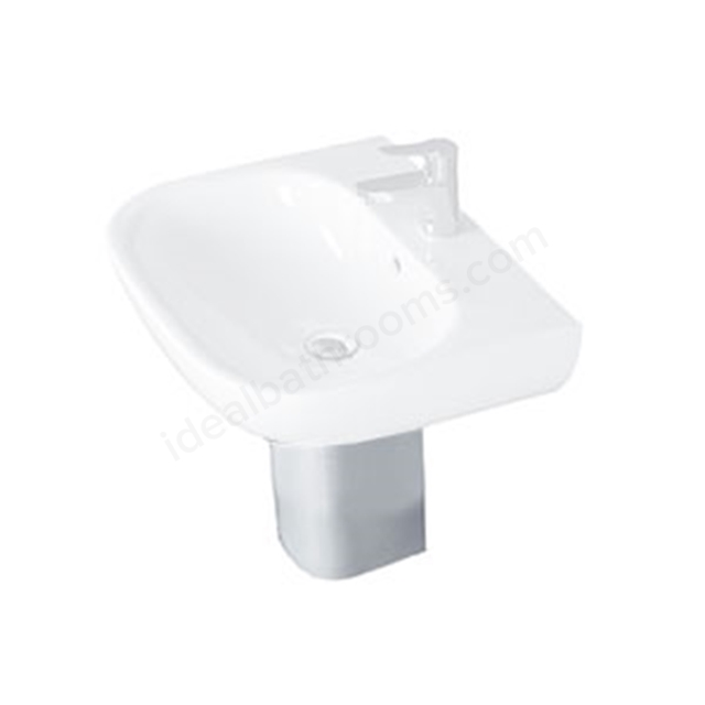 Essential LILY Semi Pedestal Only; White
