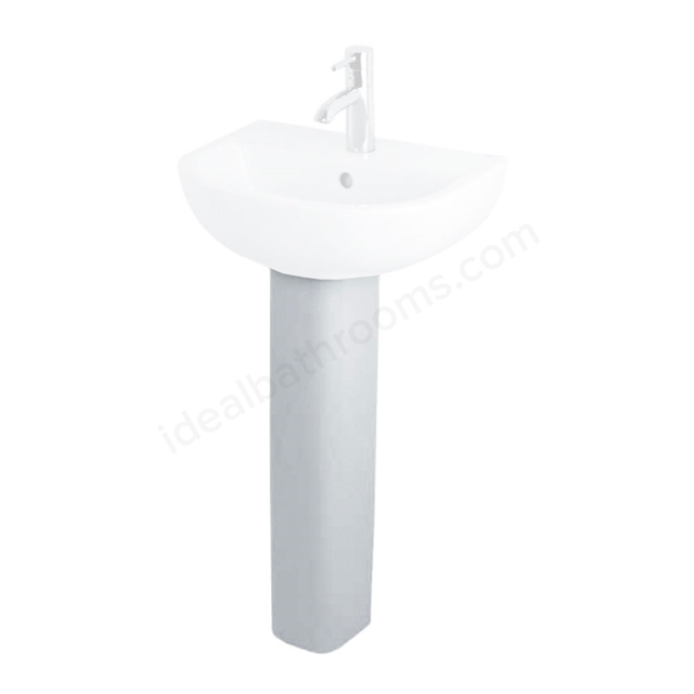 Essential LILY Small Full Pedestal Only; White