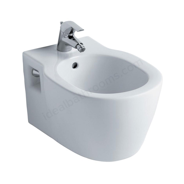Ideal Standard CONCEPT Wall Hung Bidet; 1 Tap Hole; White